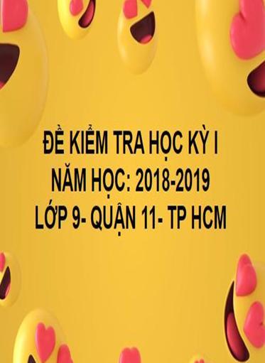 ĐỀ THI HỌC KỲ I- QUẬN 11- TOÁN 9- TP HCM- NĂM HỌC 2018- 2019